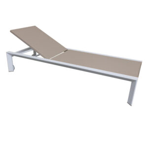 white champagne lounge chair aluminum