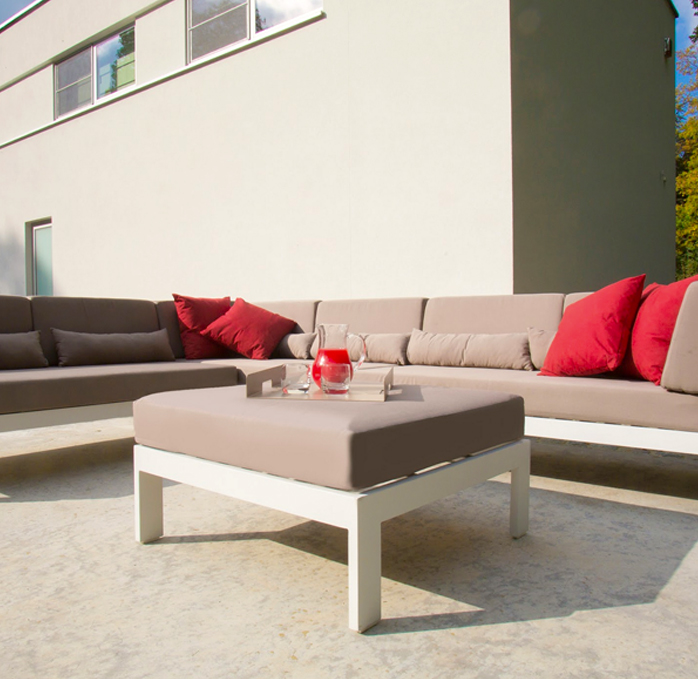 gray white outdoor sofa sectional