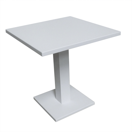 powder coated white aluminum outdoor table