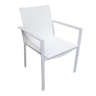 Arm chair Lucia white large