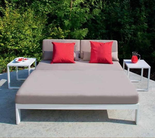 perla gray aluminum daybed