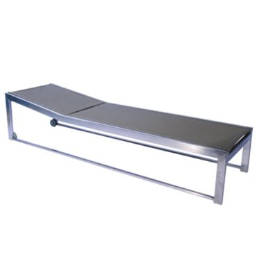 black stainless steel lounger