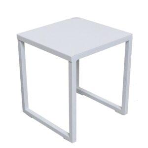 ella white outdoor small side table