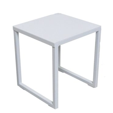 ella white outdoor side table
