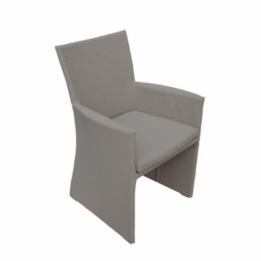 taupe textilene outdoor dining chair