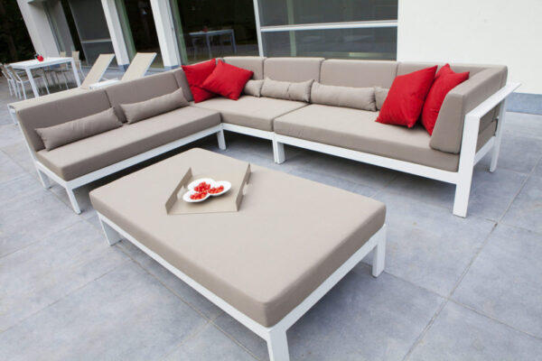 perla large footstool sofa set