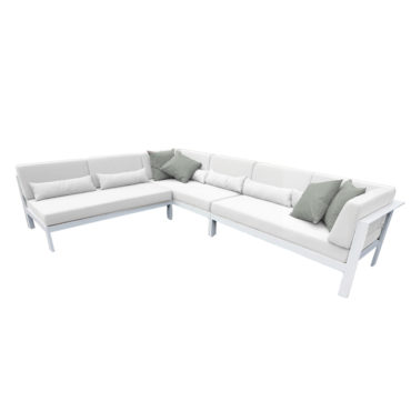 perla white aluminum outdoor sofa