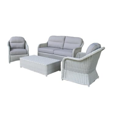 salvador wicker conversation sofa set
