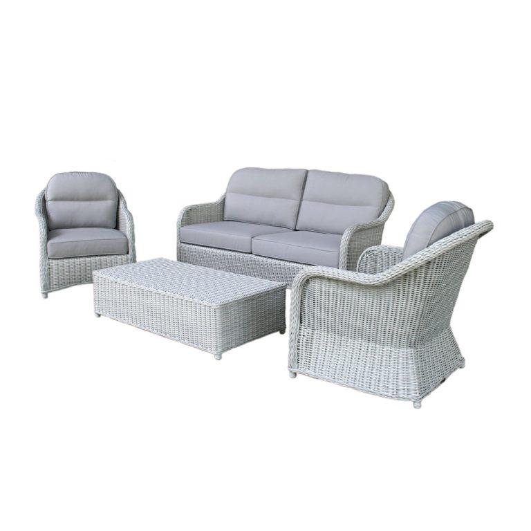 salvador wicker conversation sofa set