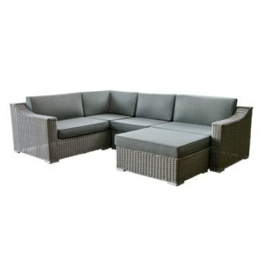 trinidad gray wicker outdoor sectional