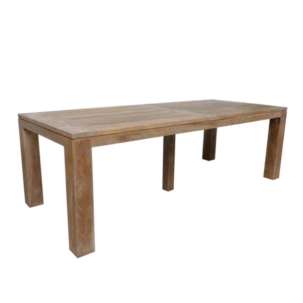 large teak outdoor dining table