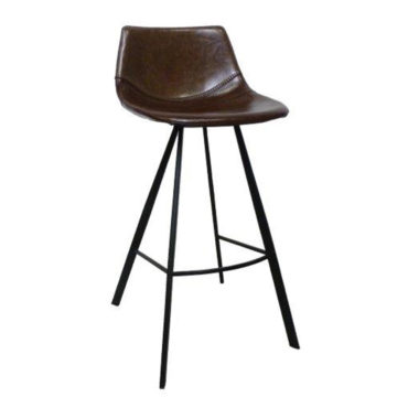 alicia brown faux leather barstool