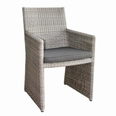 wicker grey outdoor armchair
