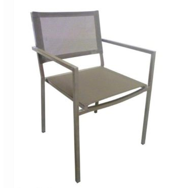 stainless steel taupe chair
