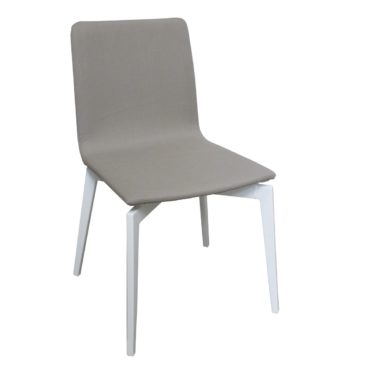 gina armless patio dining chair taupe white