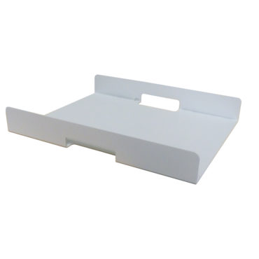 white aluminum serving tray