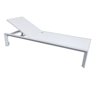 white aluminum lounge chair