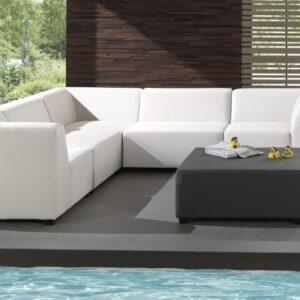 white silvertex sofa set indoor outdoor