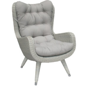 gray wicker chair outdoor cushion