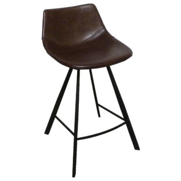 baseball brown barstool stitching