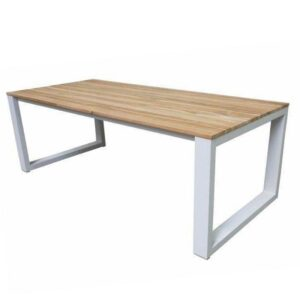 aluminum teak dining table