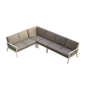 angel aluminum outdoor sofa