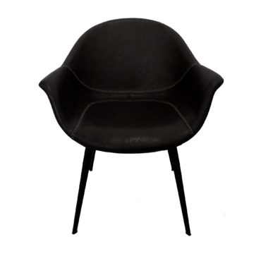 black faux pu leather armchair