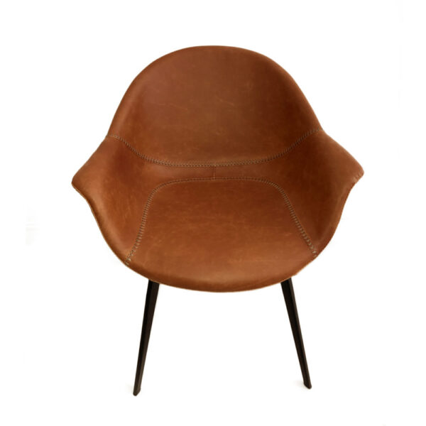 ginger light brown faux leather armchair