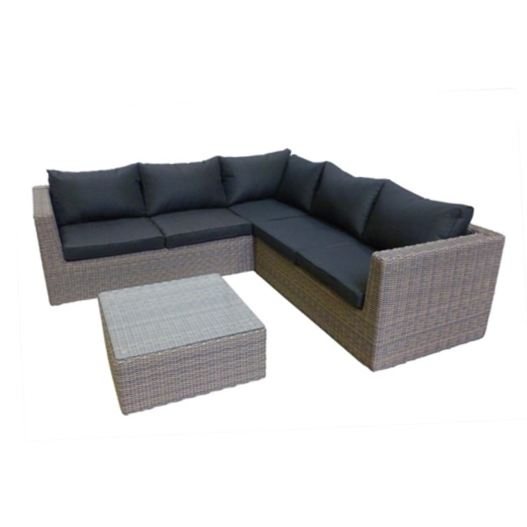 belfast dark wicker outdoor sectional