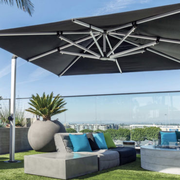 giant black hotel umbrella shademaker galaxy