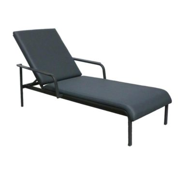 black padded lounge chair