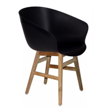 black pvc bucket armchair