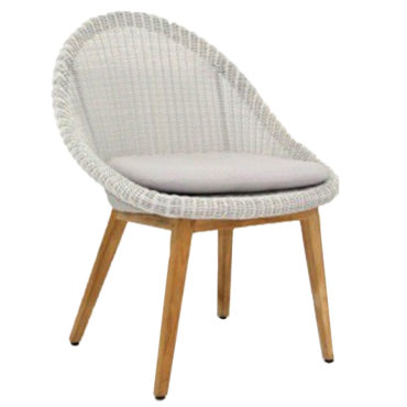 cushion grey wicker armchair teak