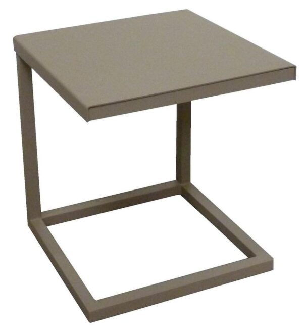 tan outdoor side table