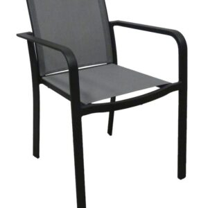 black outdoor armchair