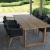eden black outdoor chair wood u base table