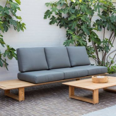 elano teak outdoor sofa coffee table