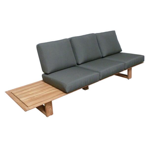 elano outdoor teak sofa