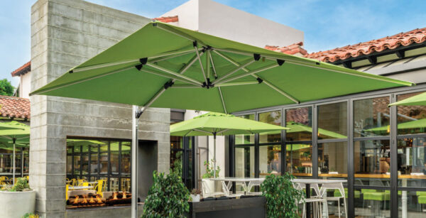green backyard umbrella