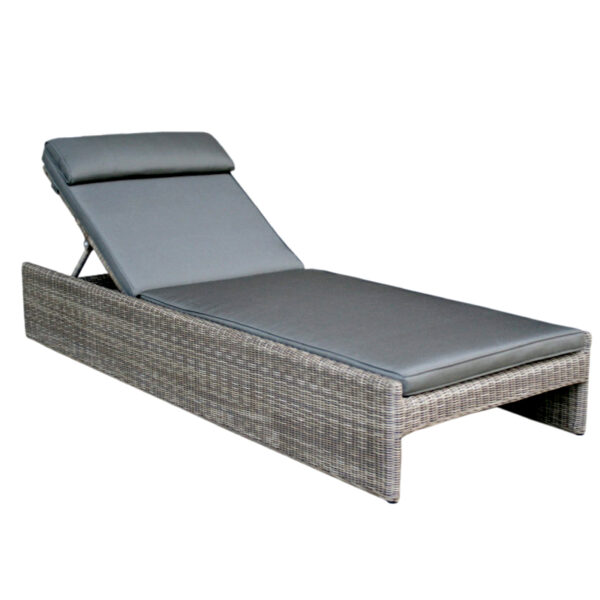 gray wicker cushion lounge chair