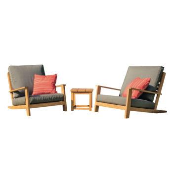 kay teak outdoor lounge set side table