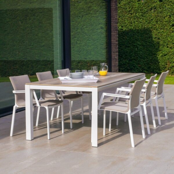 aluminum outdoor chair dining table