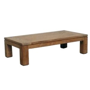 low teak outdoor coffee table