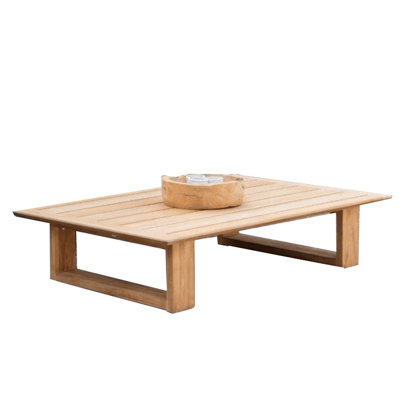 Excellent Low Teak Coffee Table Elano Luxury Patio Furniture Home Home Remodeling Inspirations Cosmcuboardxyz