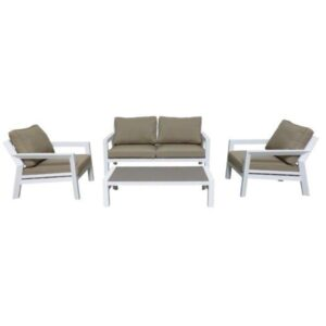 otto white taupe outdoor sofa set