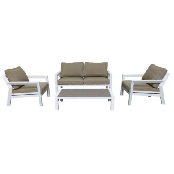 otto white taupe outdoor sofa set