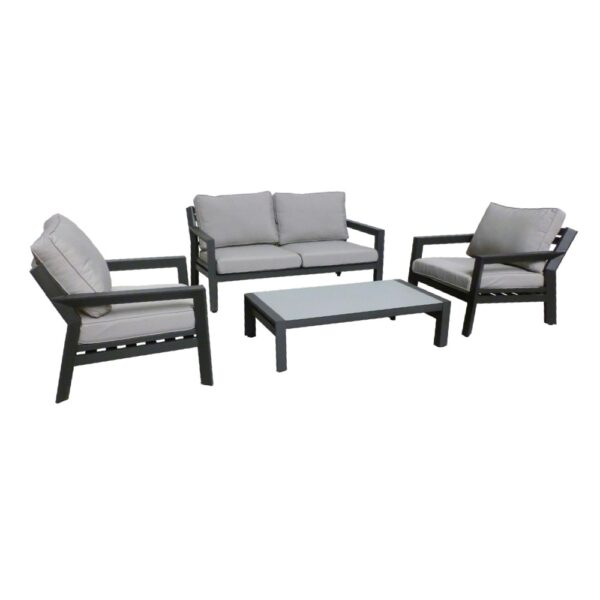 otto black gray outdoor sofa set dark