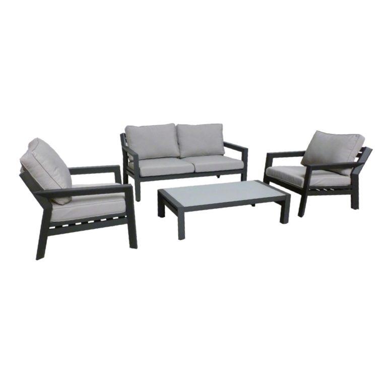 otto black gray outdoor sofa set dark