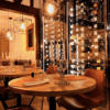 restaurant interior design faux leather dining chair