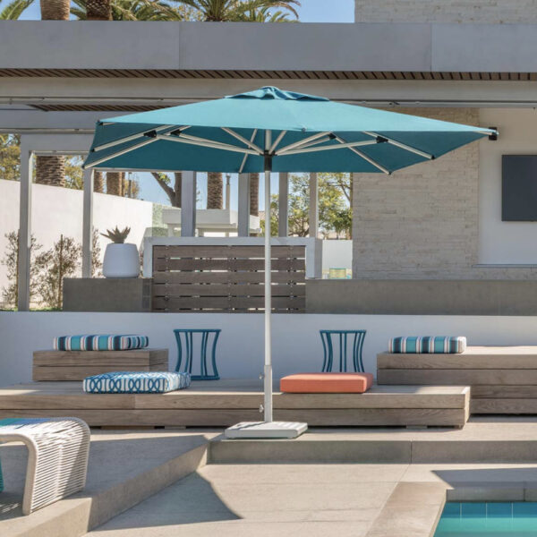 shademaker libra teal pool umbrella